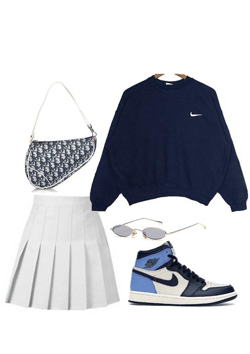 skirt x hoodie