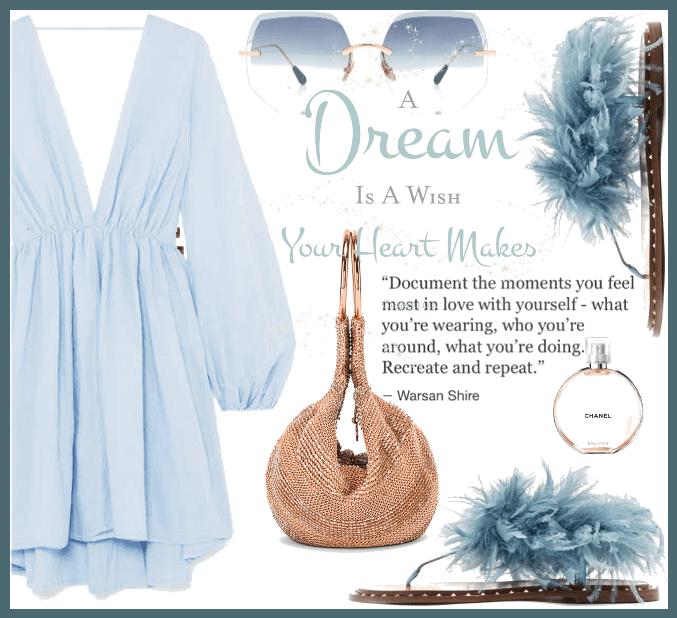 wishing in blue