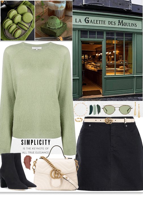 simple outfit for a green vibes