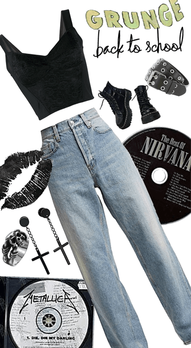 Grunge Back to School Outfit