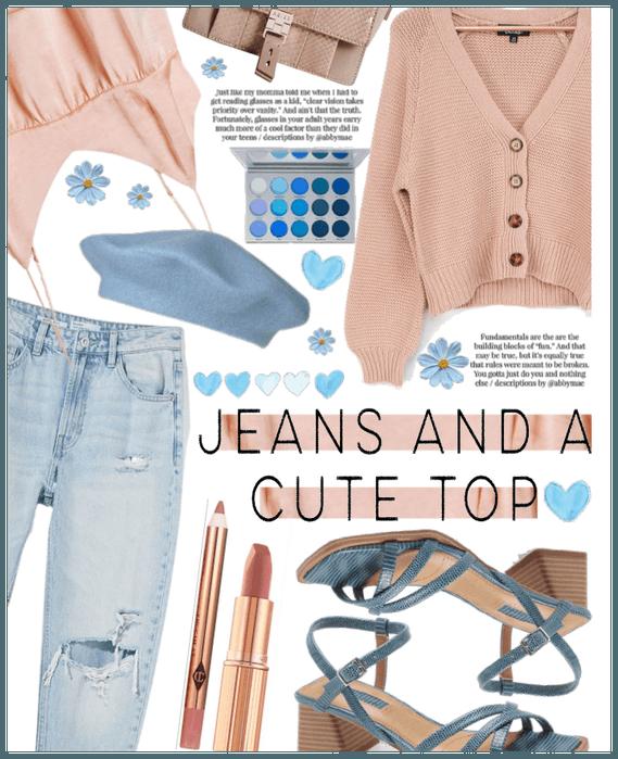 Jeans a cute top II.