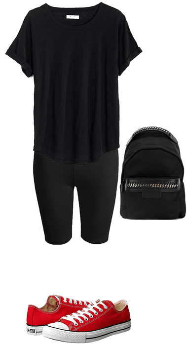 Casual Biker Short outfit