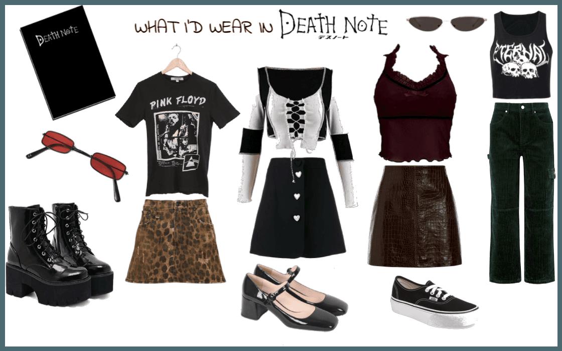 death note lookbook
