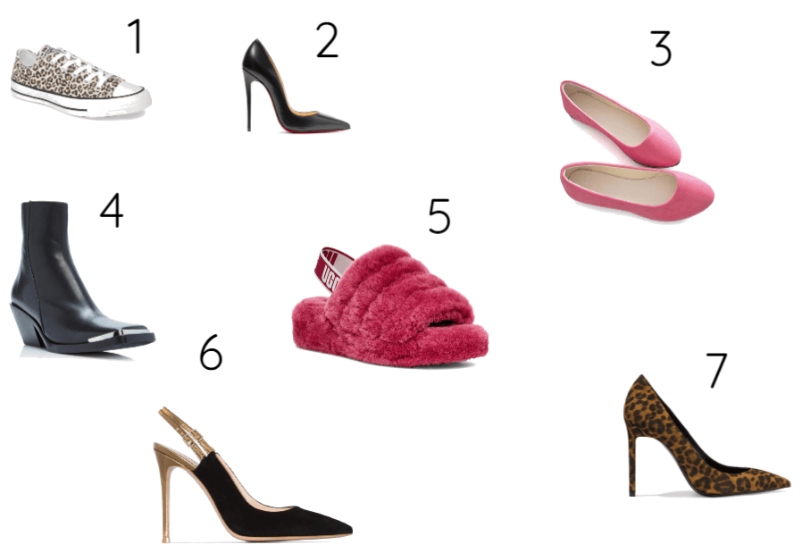 Os 7 estilos universais/sapatos