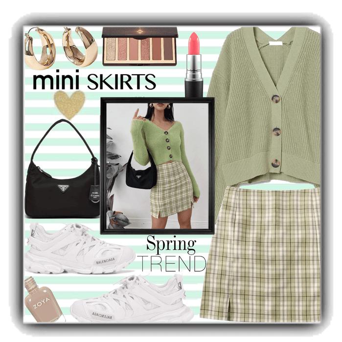 mini skirt -spring trend.