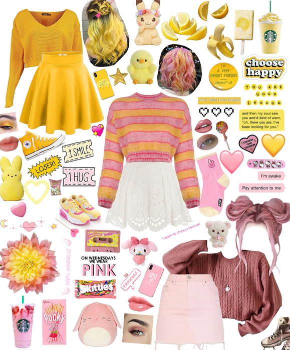 Pink and Yellow!💝💖