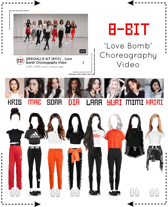⟪8-BIT⟫ 'Love Bomb' Choreography Video Outfit Set