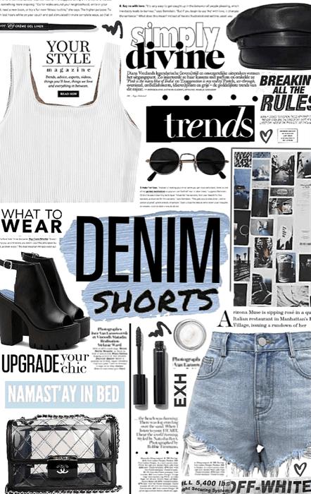 denim shorts. 💙