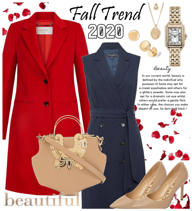 Red and Navy Fall Trend 2020
