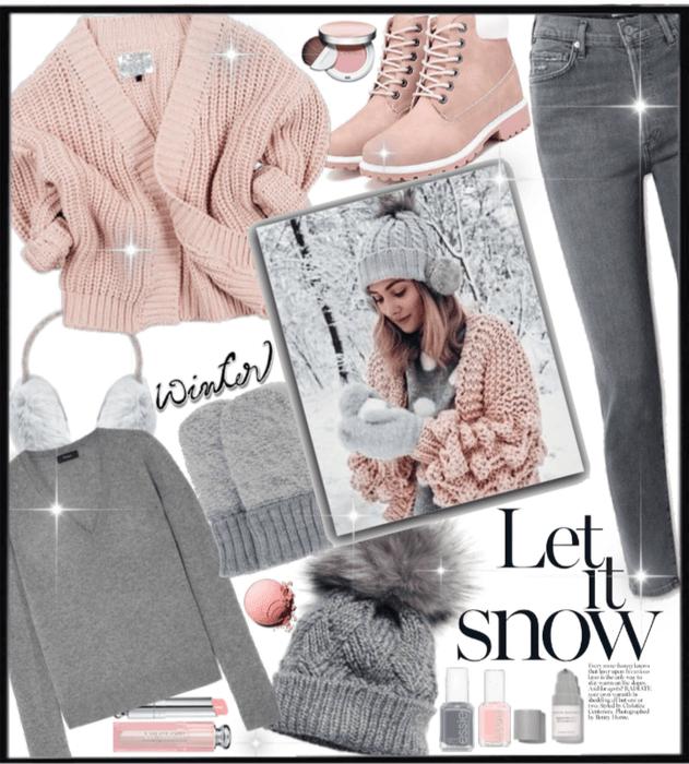 Winter Pink & Gray