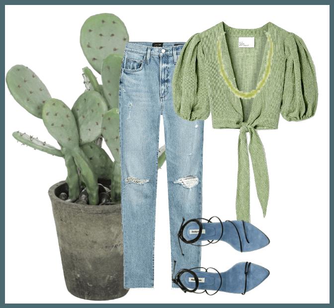 A bit of green