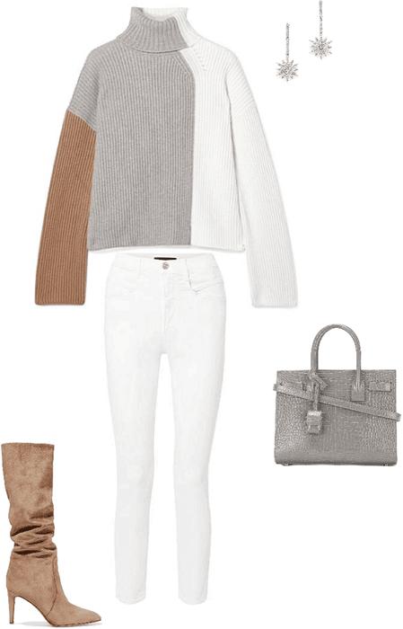 camel brown + heather grey