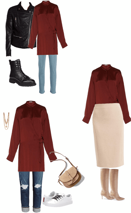burgundy wrap dress
