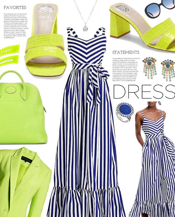 bright secondary   simple summer dress