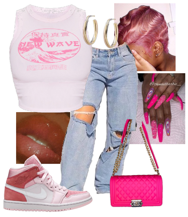 Pink New Wave Style