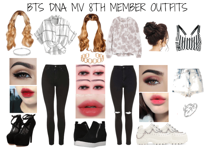 BTS Eighth Member DNA MV Outfits