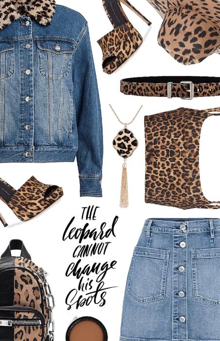 leopard and denim