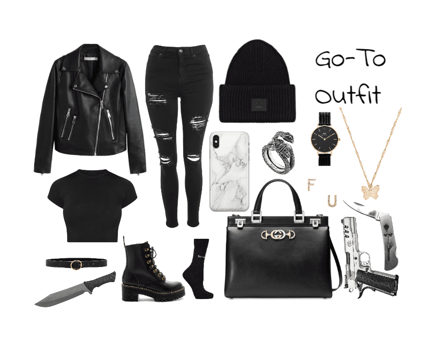 Casual Female Gang Outfit