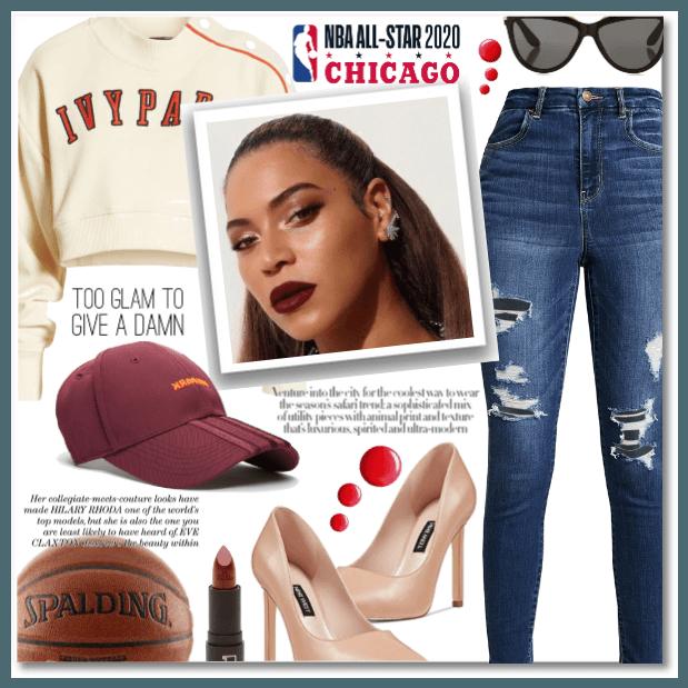 Beyonce at NBA