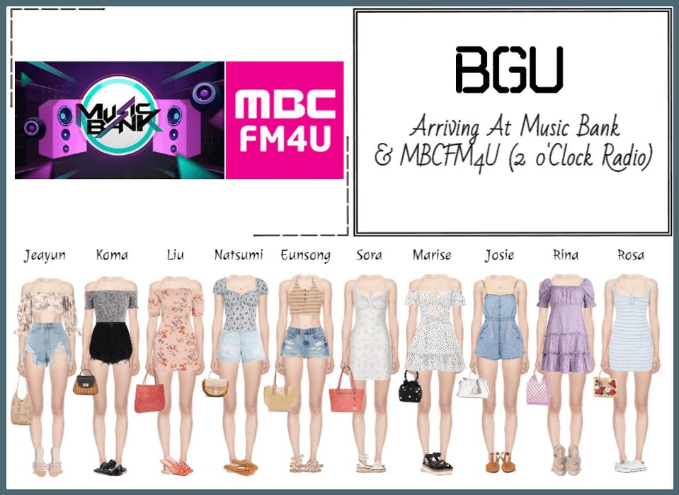 BGU Arriving At Music Bank & MBCFM4U