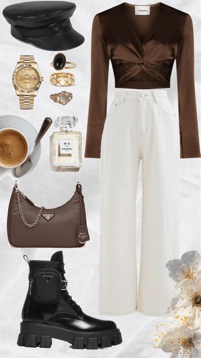 brown top