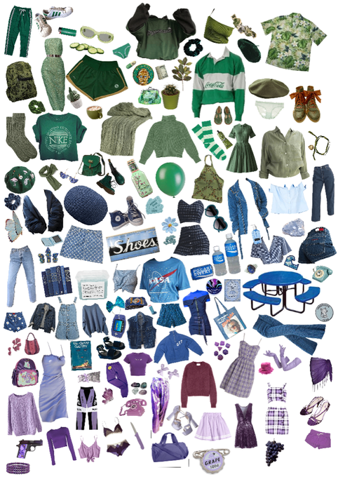 green blue purple pngs