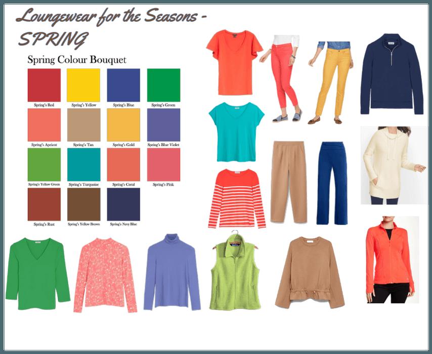 Seasonal Colour Analysis Spring Loungewear Ideas