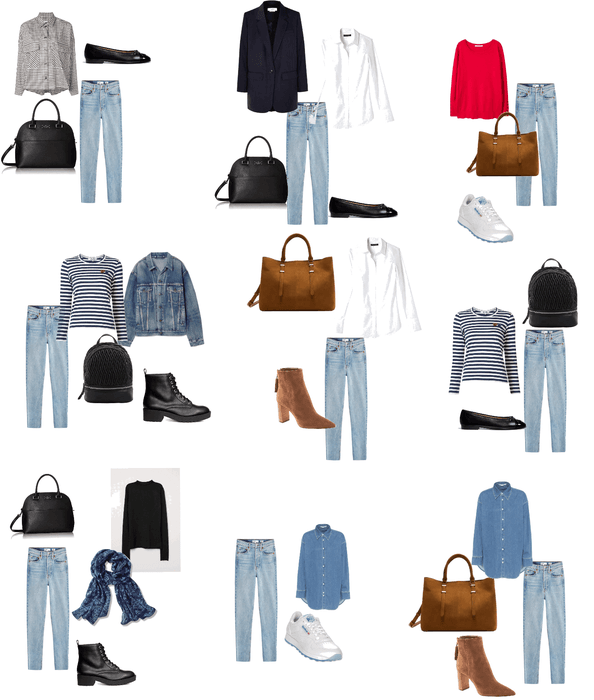 Nine ways to wear jeans