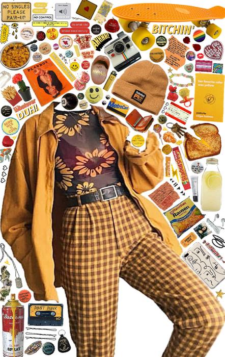 yellow skater girl