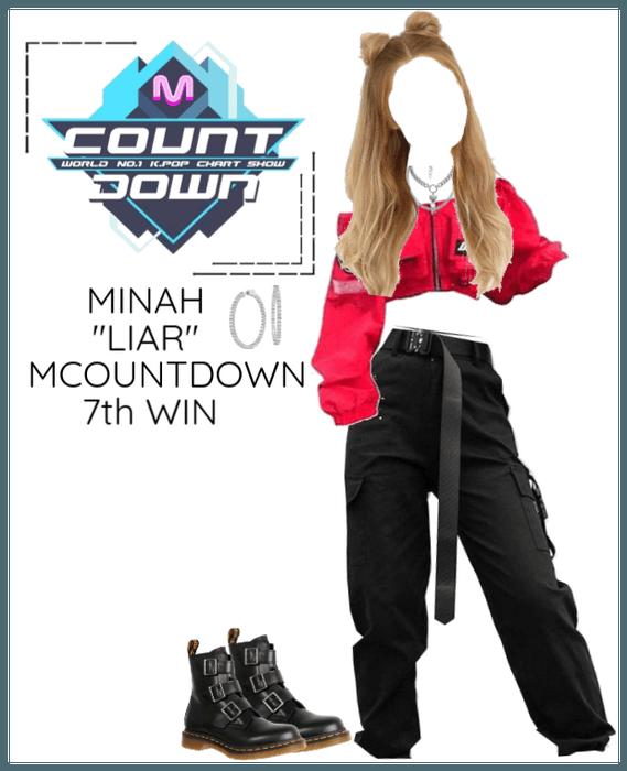 """Minah - """"LIAR"""" MCOUNTDOWN & 7th Win"""