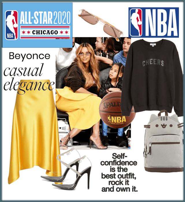 Beyonce: NBA All star weekend