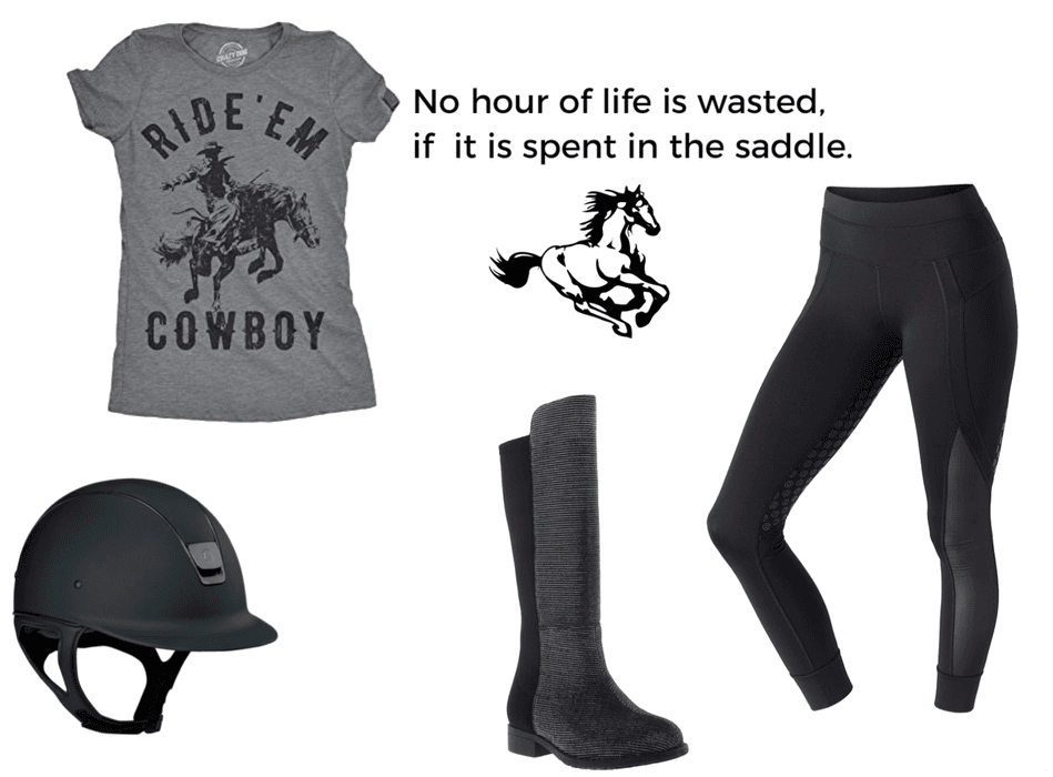 Relaxing Horse Back Riding Outfit