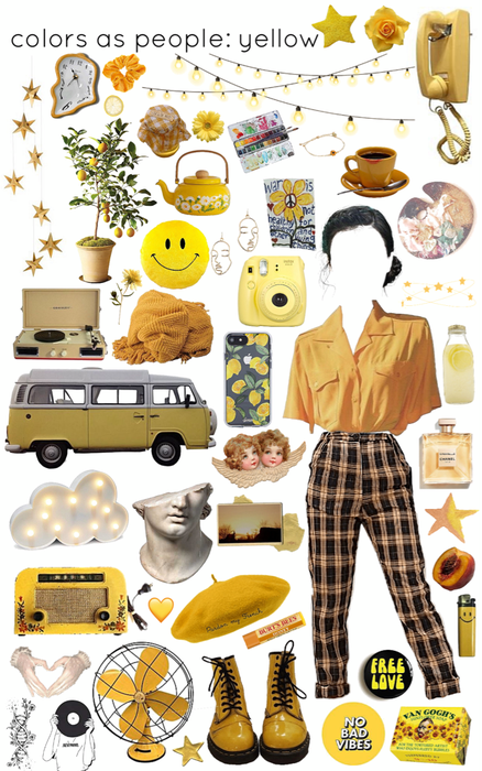 colors as people: yellow