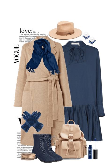 Dark Blue and Camel Duochrome