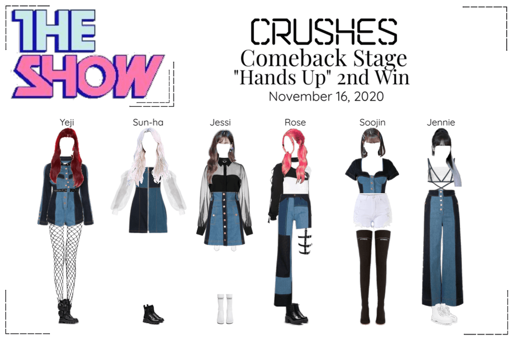 """Crushes (호감) """"Hands Up"""" Comeback Stage 2nd Win"""