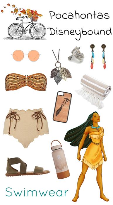 Pocahontas Swimwear Disneybound