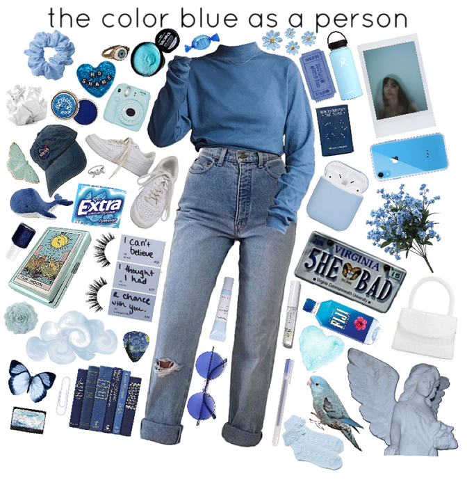 the color blue as a person
