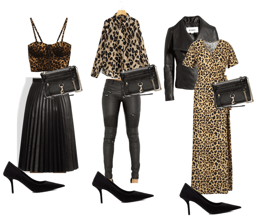 leopard + leather