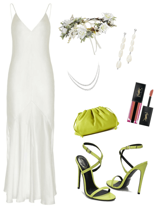 Wedding Dress, but Make the Accents Green