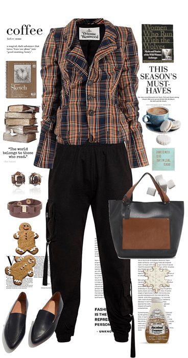 Casual Plaid - Books and Coffee