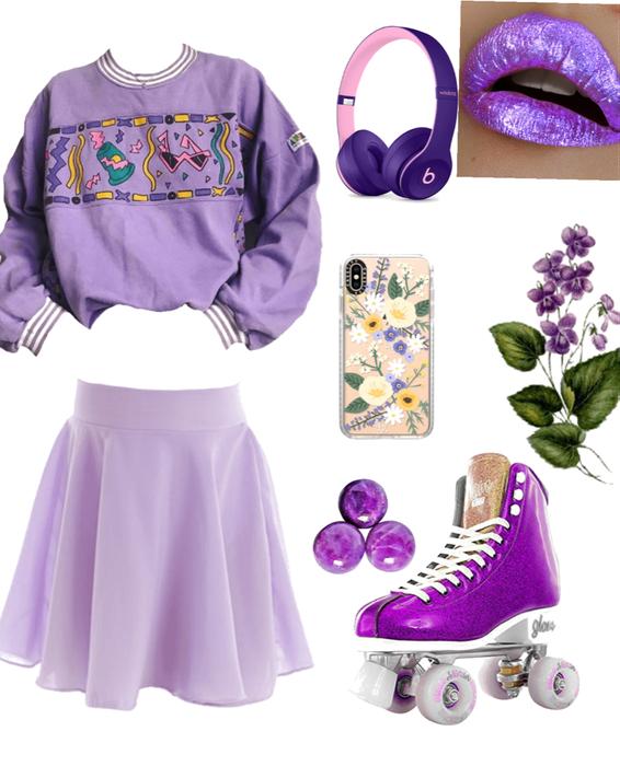 violet roller skates
