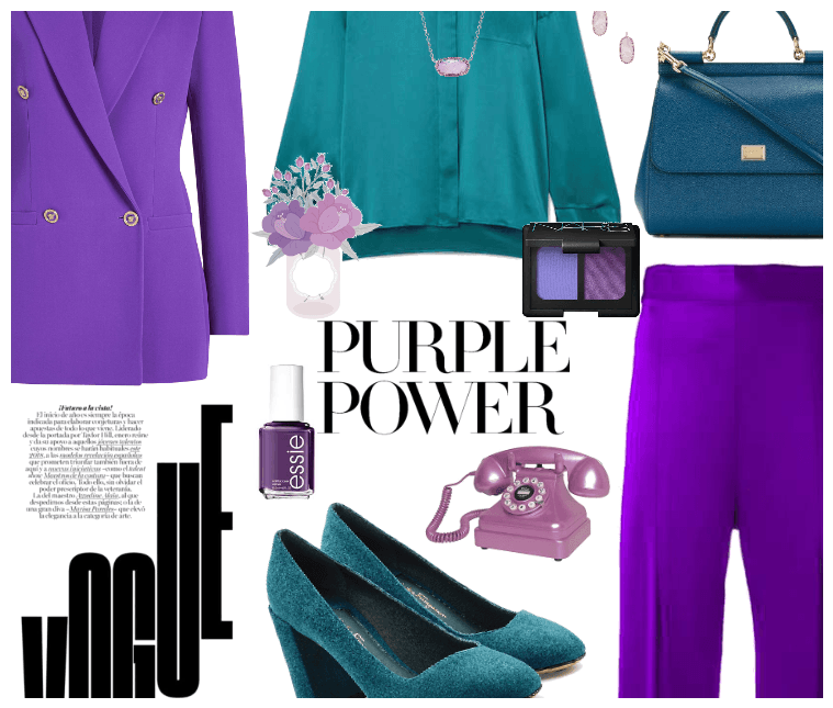 Career Chic: Purple And Teal
