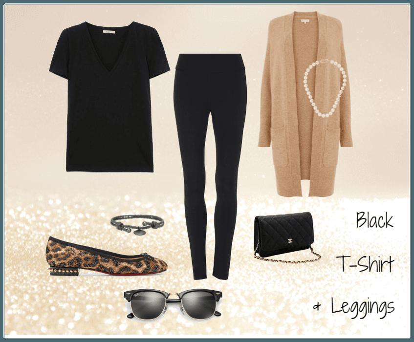 Black T-Shirt and Leggings #1
