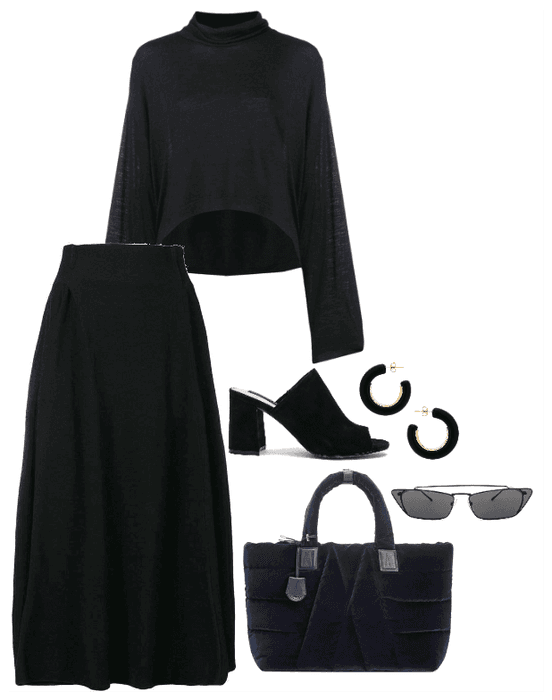 black on black on black on black-