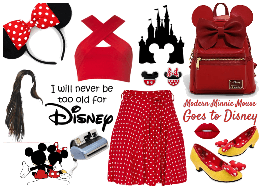 Modern Minnie Mouse Goes To Disney