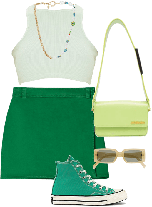 monochromatic green