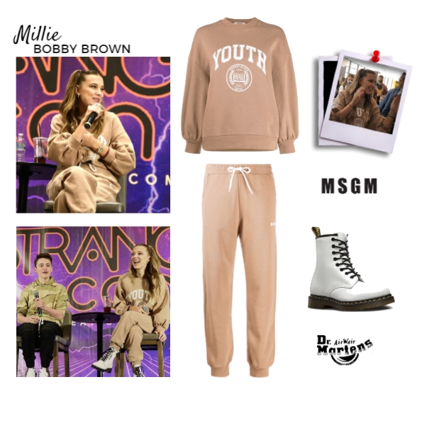 Millie Bobby Brown wearing MSGM