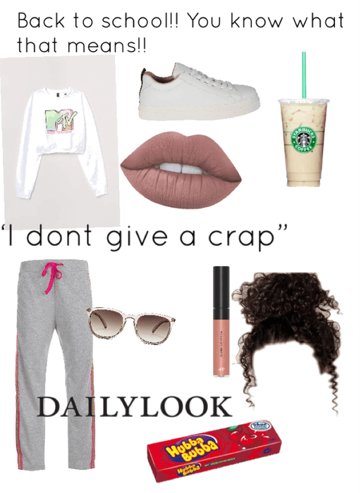 Back to school: I don't care look