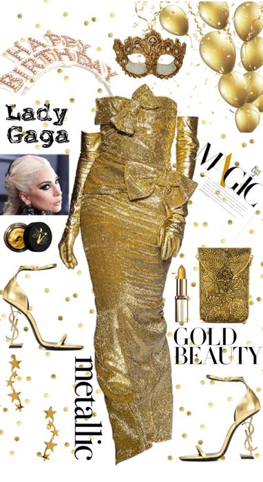 Gaga in Gold - HBD✨✨