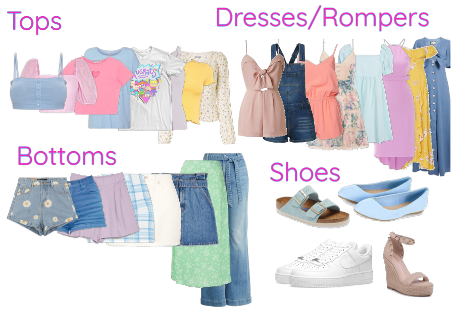 30 Piece Capsule Wardrobe - Soft girl